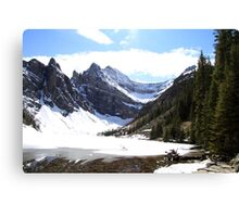 Snow at Mirror Lake Canvas Print