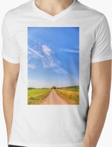 Old Country Road Mens V-Neck T-Shirt
