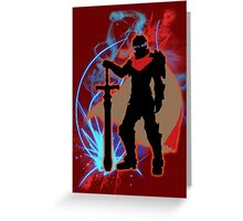 Super Smash Bros. Red Ike Silhouette Greeting Card