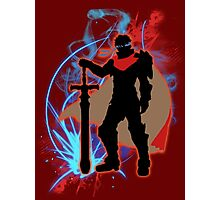 Super Smash Bros. Red Ike Silhouette Photographic Print