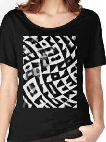 Black&White ornament Women's Relaxed Fit T-Shirt