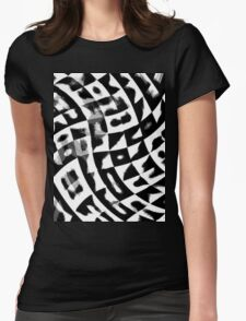 Black&White ornament Womens Fitted T-Shirt