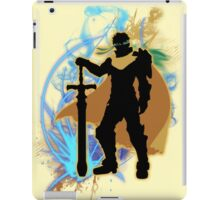 Super Smash Bros. Yellow/Gold Ike Silhouette iPad Case/Skin