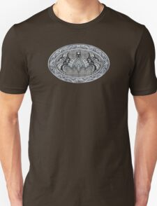 Bat God Black and white Aztec Pattern T-Shirt