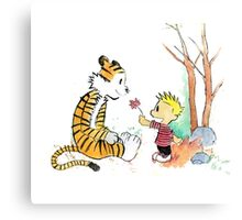 calvin and hobbes sakura Canvas Print