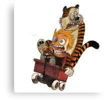 calvin and hobbes scare Canvas Print