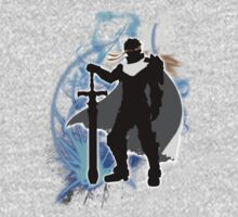 Super Smash Bros. White Ike Silhouette One Piece - Long Sleeve