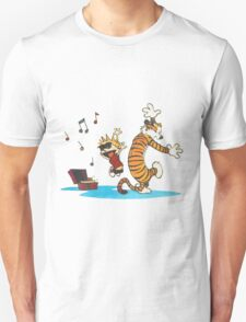 calvin and hobbes box songs T-Shirt