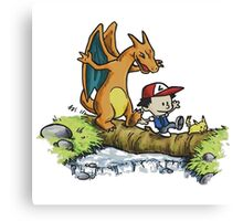 calvin and hobbes dragon Canvas Print