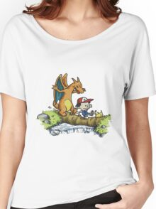 calvin and hobbes dragon Women's Relaxed Fit T-Shirt