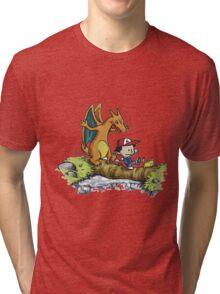 calvin and hobbes dragon Tri-blend T-Shirt