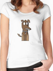 Sitting Doggie Women's Fitted Scoop T-Shirt