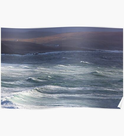 Stormy Waters - Northwest Coast of Scotland Poster