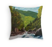 Hanging Spear Falls Throw Pillow