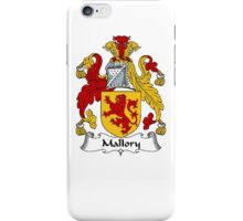 Coat of arms (family crest) for last-name or surname Mallory . Heraldry banner for your name. iPhone Case/Skin