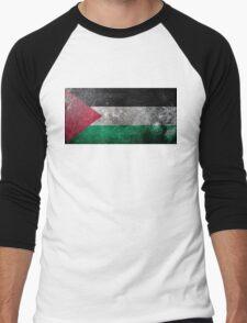 Palestine Grunge Men's Baseball ¾ T-Shirt