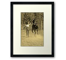 Two For The Show Framed Print
