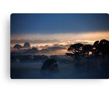 Misty enhanced Canvas Print
