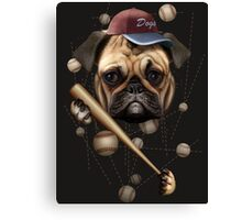DOG BASEBALL Canvas Print
