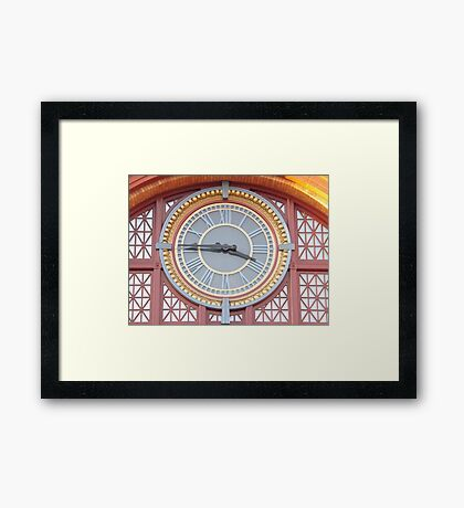 The colors of time Framed Print