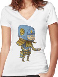 0? Women's Fitted V-Neck T-Shirt