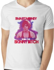 Smart Money Is On The Skinny Bitch Mens V-Neck T-Shirt