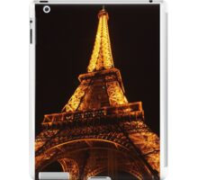 Glowing Gold Eiffel iPad Case/Skin