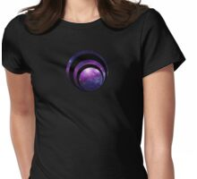 Galaxy spiral Womens Fitted T-Shirt