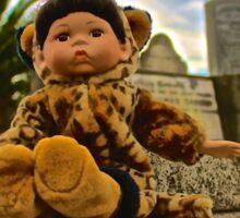 Graveyard Leopard Doll Sticker