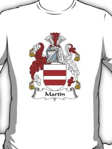 Coat of arms (family crest) for last-name or surname Martin or Martyn . Heraldry banner for your name. T-Shirt