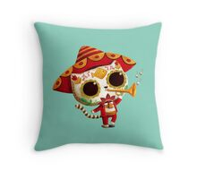 The Day of the Dead Cute Cat El Mariachi Throw Pillow
