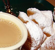 Beignets and Cafe Au lait (PLEASE VIEW LARGER) by Wanda Raines