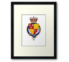 Coat of arms (family crest) for last-name or surname Massey (England) . Heraldry banner for your name. Framed Print