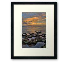 Rockpool Sunrise - HDR Framed Print