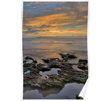Rockpool Sunrise - HDR Poster