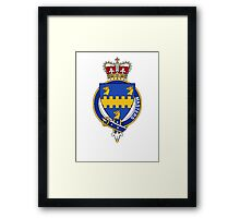 Coat of arms (family crest) for last-name or surname Masters (England) . Heraldry banner for your name. Framed Print