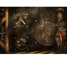Steampunk - Check your pressure Photographic Print