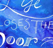 Window Quote + Water colour Artwork Sticker