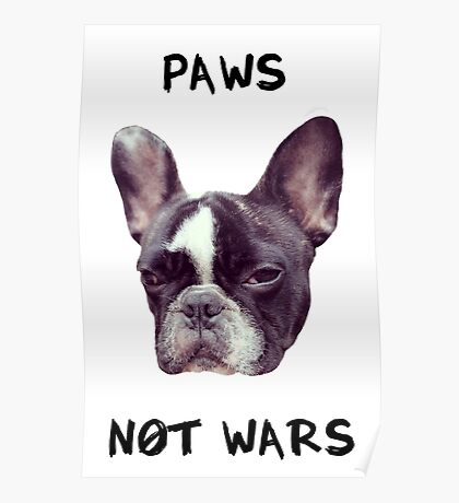 Paws Not Wars Poster