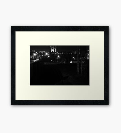 Dark Side of the Tracks Framed Print