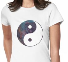Galaxy Yin Yang Womens Fitted T-Shirt