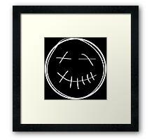 Travi$ Soundcloud Smiley - WHT Framed Print