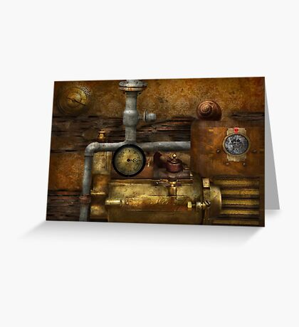 Steampunk - The device Greeting Card