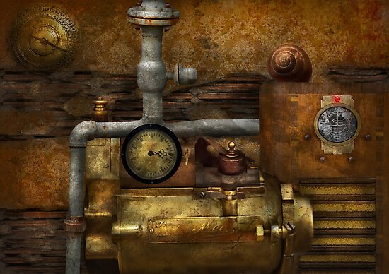 Steampunk - The device by Mike  Savad