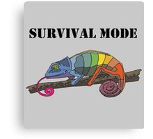 SURVIVAL MODE CHAMELEON Canvas Print