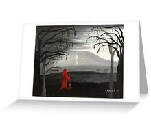 Pendle's witch (red) Greeting Card