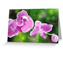 Tropical Allure - Floral artwork Greeting Card
