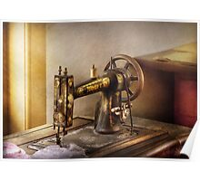 Sewing - A black & white sewing machine  Poster