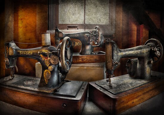Sewing - A Chorus of Three by Mike  Savad