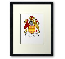 Coat of arms (family crest) for last-name or surname May . Heraldry banner for your name. Framed Print